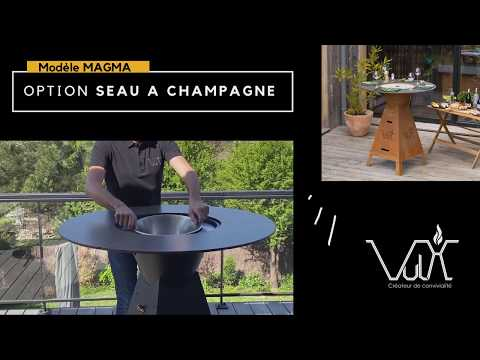 Seau à champagne table plancha brasero