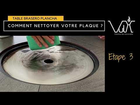 Nettoyage table plancha brasero Vulx