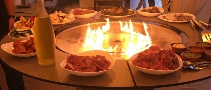 Barbecue au feu de bois